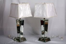 inspiring mirrored table lamp mirrored lamps lighting and ceiling fans
