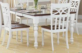 cherry dining table. Homelegance Sanibel Dining Table - Cherry/White Cherry