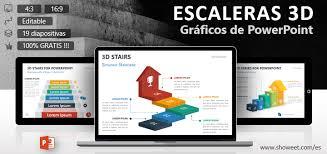 Escaleras 3d Plantillas Para Powerpoint