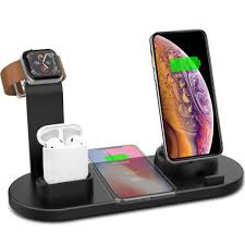 iPhone 11 / 11 Pro / 11 Pro Max Wireless Charger 3 in 1 Wireless Charging  Dock Compatible with Apple Watch and Airpods