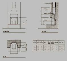 diagram of rumford fireplace dimensions