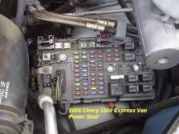 chevy express 2006 r and p carriages seneca illinois stub below is power feed for brake controller fuse that powers it is empty in picture and circled
