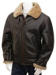 men s ginger sheepskin aviator jacket chemnitz front