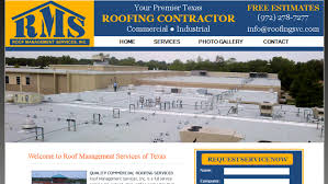 roof management services website texas