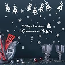 Us 433 15 Offfrohe Weihnachten Glocken Diy Vinyl Wand Aufkleber Glas Fenster Kunst Wohnkultur Aufkleber Kreative 3d Tapete Dekoration In