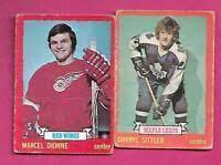 1973-74 TOPPS LOT OF 34 HOCKEY CARDS EX? Dionne Schultz Goalies Sittler  Parent | eBay