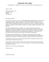 Cover Letter Template Entry Level Cover