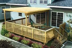 deck ideas. Easy Deck Ideas Large Raised Patio Design 716 Deck Ideas