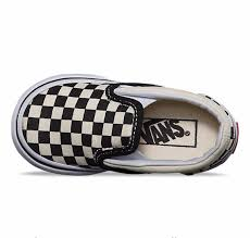 vans toddler shoes. vans classic slip-on checkerboard toddler shoes (black/white) at black wagon