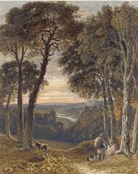 Travellers In An Arcadian Landscape By George Barrett Jr On