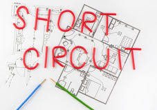 electrical wiring diagram background royalty stock image word short wiring royalty stock photography