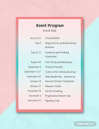 Template For A Program For An Event 31 Free Program Templates Download Ready Made Template Net