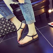 Buy 2018 <b>new summer</b> Roman flip flops with <b>flat</b> feet ladies sandals ...