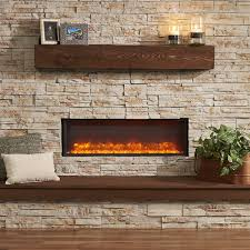 greatco linear built electric fireplace gbl amber flame insert