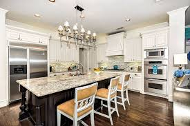white kitchen cabinets with granite countertops. Kitchen With White Cabinetry And Spring Granite Counters Cabinets Countertops N