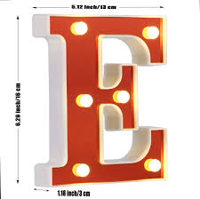 Red Light Up Marquee Letters Led Marquee Letter Lights 26 Alphabet Light Up Red Letters Sign Battery Powered Perfect For Night Light Wedding Birthday Party Christmas Lamp Home Bar