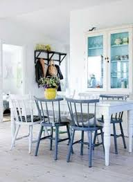 paint your dining chairs for an instant update to your kitchen this easy diy will brighten your eating e in a snap painted chairs add an unexpected