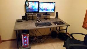 furniture black metal computer desk