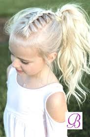 Coiffure Petite Fille Cheveux Avec Tresse Et Queue De Cheval