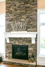 faux stacked stone fireplace antique dry design by fake rock for painting over