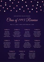 Purple And Pink Sparkly Seating Chart Templates By Canva
