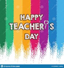 Invitation Card Design For Teachers Day Happy Teacher S Day Layout Design With Colorful Chalk Card