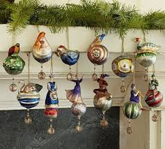 12 Days of Christmas ornaments - from Pottery Barn. This year they have 12  Days of Christmas Collection again-love the Partridge in a Pear Tree Salt  ...