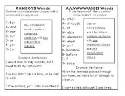 Fanboy Anchor Chart Worksheets Teaching Resources Tpt