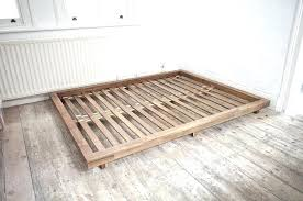 Low Bed Frames Queen Low Bed Frame Queen White And Headboard With ...