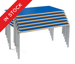 school rectangle table. N Stock Crush Bent School Table Blue Top \u0026amp; Rectangle