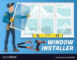 Home Window Installation Service Installer Worker