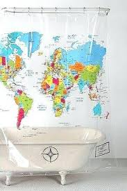 urban outfitters world map shower curtain profile photo curtains uk