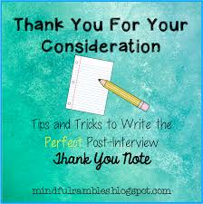 The Job Hunting Teacher Series Thank You Notes Mindful Rambles