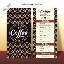 Free Menu Templates For Microsoft Word New Coffee Menu Template Free