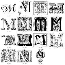 Decorative Letters Initial M Fonts Decorative Letters Click On Letter Of Your