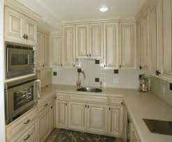 Beautiful U Shaped White Cream Wooden Wall Mounted Combine Lower French  Country Kitchen Cabinets Also ...