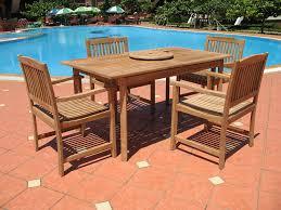 clean teak wood patio furniture