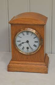 light oak edwardian mantel clock