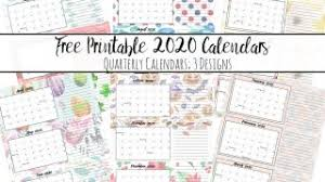 Small Printable 2020 Calendar Free 2020 Printable Calendars Crafting In The Rain