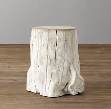 acacia white trunk side table
