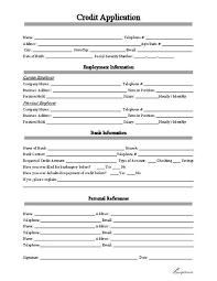 Credit Application Form Pdf Credit Check Application Form Gratulfata