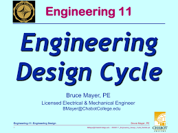 Mechanical Design Ppt Engineering Design Cycle Engineering 11 Bruce Mayer Pe