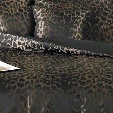 sierra leopard print duvet cover black thumbnail 3