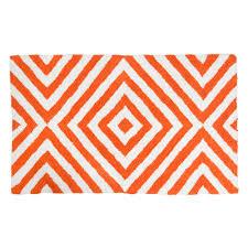 Coral Bathroom Rugs Hampton Indoor Outdoor Pvc Rug Orange Cream And White
