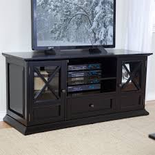 55inch Wide Black TV Stand Entertainment Center With Adjustable Shelves  Cabinet And Drawer 48 Inch Wide Tv Stand F93