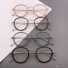 Designer Spectacle Frames Vintage Optical Frames Glasses Brand Designer Men Women Round Eyeglasses Frames Retro Spectacle Frame Myopia Glasses Tb905 Eyewear Frame