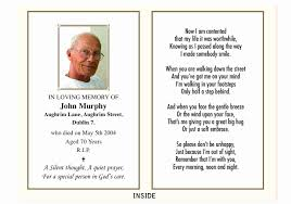 Memorial Program Impressive Funeral Program Template Free Luxury Memorial Cards Ideas In Ate