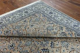 fresh hand knotted rug persian nain 8 x 12 wool silk