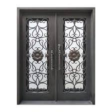 Ap Iron Design Aleko Iron Square Top Sunflower Dual Door With Frame And