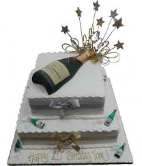 Champagne Bottle Cake Decoration Tiered Champagne Bottle Cake 15
